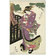 歌川国安: The Myôken Temple in Yanagishima (Yanagishima no Myôken), from the series Famous Places in the Eastern Capital (Tôto meisho) - ボストン美術館