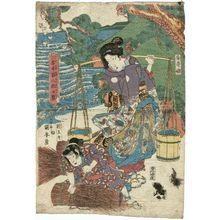 Utagawa Kuniyasu: Anju-hime and Taiômaru - Museum of Fine Arts