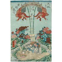 Utagawa Yoshiharu: Acrobats - ボストン美術館