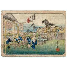 Sekkô: Totsuka, from the series Fifty-three Stations of the Tôkaidô Road (Tôkaidô gojûsan tsugi no uchi) - Museum of Fine Arts