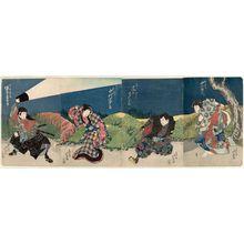 Shunbaisai Hokuei: Actors, from right: Nakamura Utaemon III as Sutewakamaru, Onoe Tamizô II as Miura Hitachi, Nakamura Tomijûrô II as Gion Okaji, and Bandô Jûtarô I as Saitô Kuranosuke - ボストン美術館