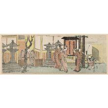 Katsushika Hokusai: Visitors to the Inari Shrine at Ôji - Museum of Fine Arts