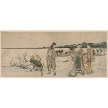 葛飾北斎: On the Shore of Shinobazu Pond - ボストン美術館