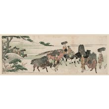 Katsushika Hokusai: Firewood Gatherers Returning from Their Work - Museum of Fine Arts