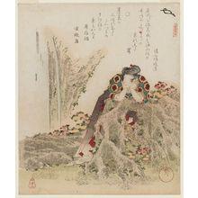 Yanagawa Shigenobu: The Chrysanthemum Boy (Kikujidô), from the series A Set of Five Examples of Longevity (Kotobuki goban no uchi) - Museum of Fine Arts