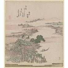 柳々居辰斎: River Landscape - ボストン美術館