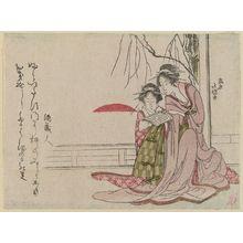 葛飾北岱: Courtesans of Shinagawa at Sunrise on New Year's Day - ボストン美術館