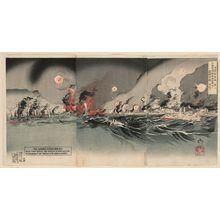 Ryukei: NIchiro Senso Ga Dai ni, the Japanese Russian War, no. 2: Nihon Teikoku Kantai Ryojun Kogai ni Rokuku Gunkan wo gekichin su - Museum of Fine Arts