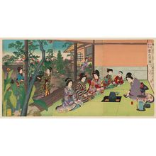 Toyohara Chikanobu: Tea Ceremony (Chanoyu no zu), from the series Etiquette for Ladies (Onna reishiki no uchi) - Museum of Fine Arts