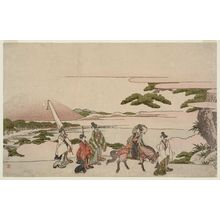 葛飾北斎: Parody of Narihira's Journey to the East - ボストン美術館