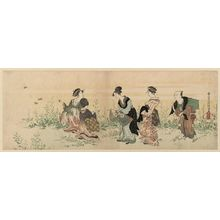 Kubo Shunman: Women Gathering Flowers - Museum of Fine Arts