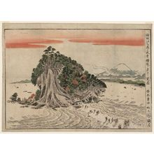Katsukawa Shunsho: View of the Scenery of Enoshima Seen from Koshigoe (Sôshû Enoshima no fûkei Koshigoe no hô yori miru zu) - Museum of Fine Arts