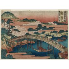 葛飾北斎: Cherry Blossoms at Arashiyama in Yamashiro Province (Yamashiro Arashiyama no hana), from the series Snow, Moon, and Flowers at Famous Scenic Spots (Shôkei setsugekka) - ボストン美術館