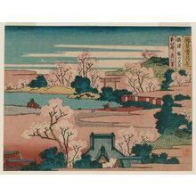 Katsushika Hokusai: Flowers at the Cherry Blossom Shrine in Settsu Province (Settsu Sakura no miya hana), from the series Snow, Moon, and Flowers at Famous Scenic Spots (Shôkei settsugekka) - Museum of Fine Arts