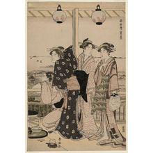 Utagawa Toyokuni I: The Four Seasons in the South: A Summer Scene (Minami shiki natsu [no] kei) - Museum of Fine Arts
