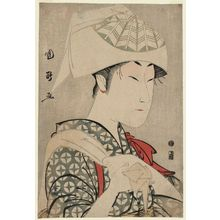 歌川国政: Actor Nakamura Noshio II as Matsuô's Wife Ochiyo (?) - ボストン美術館