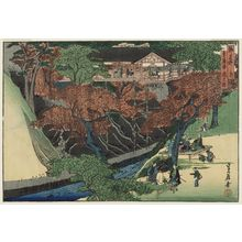 Hasegawa Sadanobu I: Tsûten-kyô Bridge at Tôfuku-ji Temple (Tôfuku-ji Tsûten-kyô), from the series Famous Places in the Capital (Miyako meisho no uchi) - Museum of Fine Arts