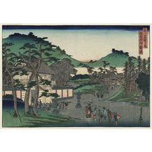 代長谷川貞信: Mount Yoshida and Kagura Hill (Yoshida-yama Kagura-oka), from the series Famous Places in the Capital (Miyako meisho no uchi) - ボストン美術館