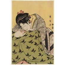 歌川国政: Woman, Cat, and Kotatsu - ボストン美術館