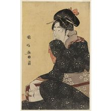 Utagawa Kunimasa: Woman with a Shamisen - Museum of Fine Arts