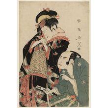 Utagawa Kunimasa: Actors Segawa Kikunojo III as Kohina and Bandô Mitsugorô II as the Young Samurai Tomoji - Museum of Fine Arts