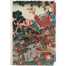 Utagawa Kuniyoshi: The Great Battle between the Minamoto and the Taira in Northern Echizen Province (Genpei Hokuetsu ôgassen) - Museum of Fine Arts