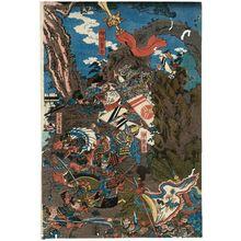 Utagawa Kuniyoshi: Empress Jingû Attacks the Three Korean Kingdoms (Jingû kôgô Sankan seibatsu no zu) - Museum of Fine Arts