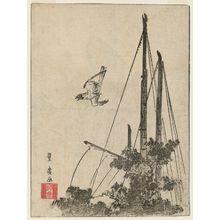 歌川豊広: Cuckoo at Tsukudajima - ボストン美術館