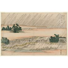 Utagawa Toyohiro: Night Rain at Matsuchiyama (Matsuchiyama yau), from the series Eight Views of Edo (Edo hakkei) - Museum of Fine Arts