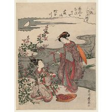 Utagawa Toyoharu: The Jewel River of Bush Clover (Hagi), from the series Fashionable Six Jewel Rivers (Fûryû Mu Tamagawa) - Museum of Fine Arts