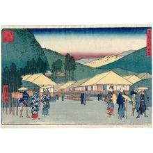 歌川広重: Ashinoyu, from the series Seven Hot Springs of Hakone (Hakone shichiyu zue) - ボストン美術館