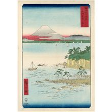 歌川広重: The Sea at Miura in Sagami Province (Sôshû Miura no kaijô), from the series Thirty-six Views of Mount Fuji (Fuji sanjûrokkei) - ボストン美術館