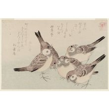 Kubo Shunman: The Tongue-cut Sparrow (Shita-kiri suzume), from the series Assorted Storybook Prints (Akahon tsukushi) - Museum of Fine Arts