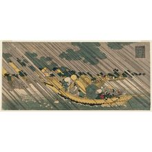 魚屋北渓: The Sumida River in Musashi Province (Musashi Sumidagawa), from the series Famous Places in the Provinces (Shokoku meisho) - ボストン美術館