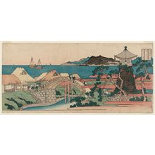 Totoya Hokkei: Sumiyoshi in Settsu Province (Sesshû Sumiyoshi), from the series Famous Places in the Provinces (Shokoku meisho) - Museum of Fine Arts