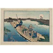 Totoya Hokkei: Ferry Boat on the Sumida River, from the album Santo no tomoe (Friends of the Three Capitals) - Museum of Fine Arts