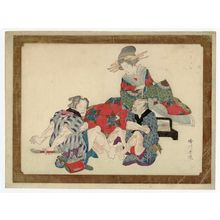 Katsukawa Shungyo: Courtesan Watching Clients Foot-wrestling - Museum of Fine Arts