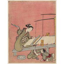 Suzuki Harunobu: The Weaver - Museum of Fine Arts