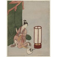Suzuki Harunobu: Young Woman Preparing to Sleep under a Mosquito Net - Museum of Fine Arts