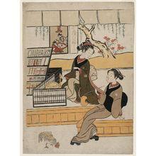 鈴木春信: Ofuji and a Female Customer - ボストン美術館