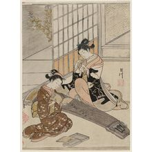 鈴木春信: Descending Geese of the Koto Bridges, from the series Eight Views of the Parlor (Zashiki hakkei) - ボストン美術館