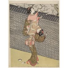 Suzuki Harunobu: Women Picking Plum Blossoms at a Wall - Museum of Fine Arts