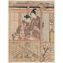Suzuki Harunobu: Couple on a Drying Platform - Museum of Fine Arts