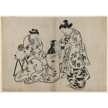 Torii Kiyonobu I: Man, Woman, Girl - Museum of Fine Arts