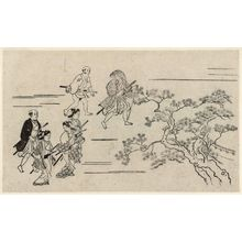 Hishikawa Moronobu: Viewing Cherry Blossoms in Ueno (Ueno hanami no tei), Sheet 6 - Museum of Fine Arts