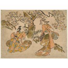 Torii Kiyonobu I: Actors Tamazawa Rinya and Nakamura Takezaburô - Museum of Fine Arts