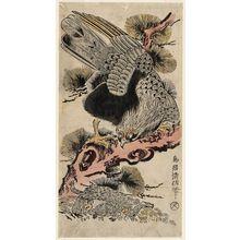 鳥居清信: Eagle and Monkey - ボストン美術館