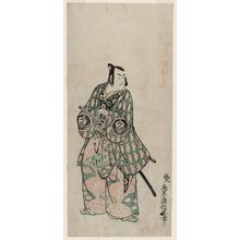 鳥居清信: Actor Bando Hikosaburô, right sheet of a triptych - ボストン美術館