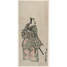 Torii Kiyonobu II: Actor Bando Hikosaburô, right sheet of a triptych - Museum of Fine Arts