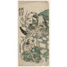 Torii Kiyonobu II: Actors Onoe Kikugorô and Segawa Kikujirô - Museum of Fine Arts